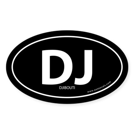 Djibouti country bumper sticker -Black (Oval)