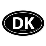 Denmark country bumper sticker -Black (Oval)