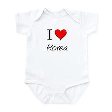 I Love Korea Infant Bodysuit