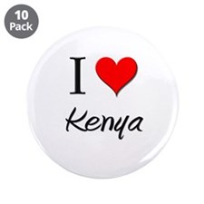 "I Love Kenya 3.5"" Button (10 pack)"