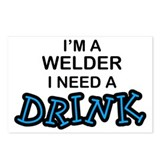 Welder Need a Drink Postcards (Package of 8)