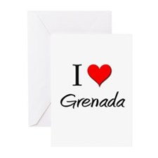 I Love Grenada Greeting Cards (Pk of 10)