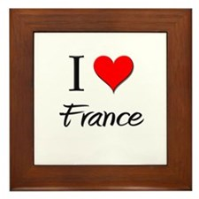 I Love France Framed Tile
