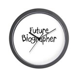 Future Biographer Wall Clock