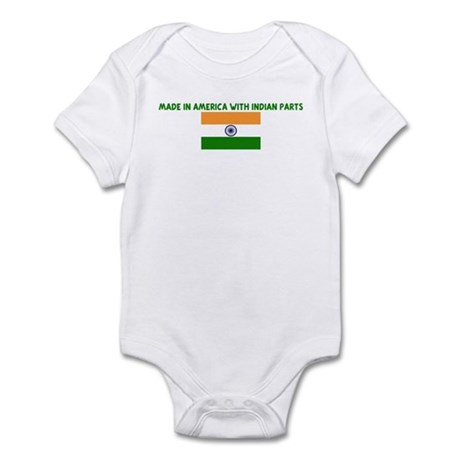 MADE IN AMERICA WITH INDIAN P Infant Bodysuit