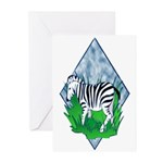 Zebra Greeting Cards (Pk of 10)