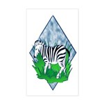 Zebra Rectangle Sticker
