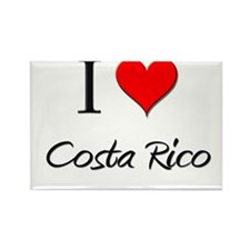 I Love Costa Rico Rectangle Magnet (10 pack)