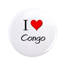 "I Love Congo 3.5"" Button"