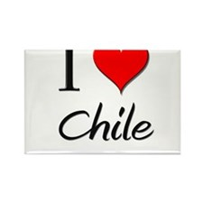 I Love Chile Rectangle Magnet