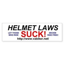 Helmet Laws Suck Bumper Bumper Sticker