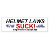 Helmet Laws Suck Bumper Car Sticker