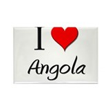I Love Angola Rectangle Magnet (10 pack)