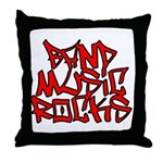 Band Music Rocks Throw Pillow