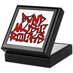 Band Music Rocks Keepsake Box