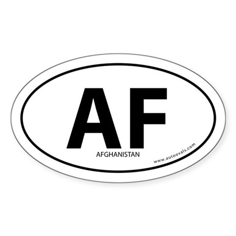 Afghanistan country bumper sticker -White (Oval)