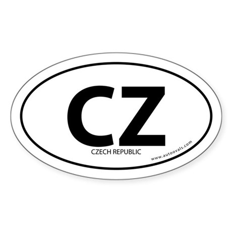Czech Republic country bumper sticker White (Oval)
