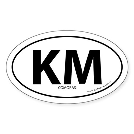 Comoras country bumper sticker -White (Oval)
