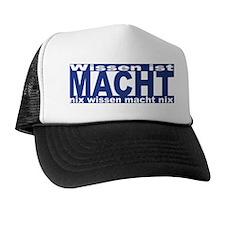 Wissen ist Macht (blue) Trucker Hat