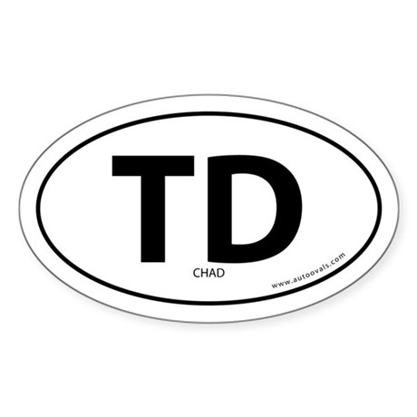 Chad country bumper sticker -White (Oval)