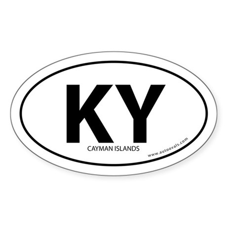 Cayman Islands country bumper sticker White (Oval)