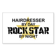 Hairdresser Rock Star Rectangle Decal
