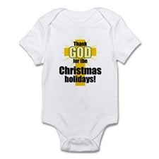 Thank God for Christmas Infant Bodysuit