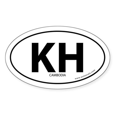 Cambodia country bumper sticker -White (Oval)