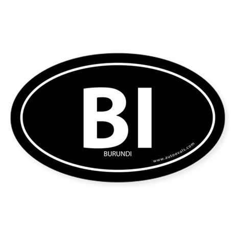 Burundi country bumper sticker -Black (Oval)