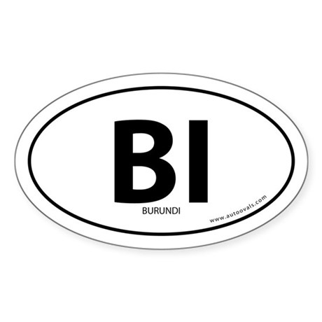 Burundi country bumper sticker -White (Oval)
