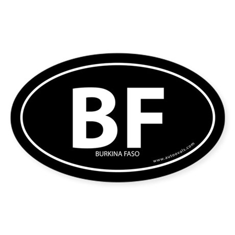 Burkina Faso country bumper sticker -Black (Oval)