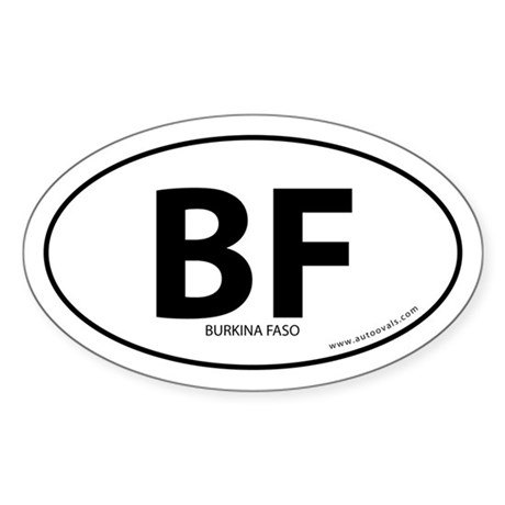 Burkina Faso country bumper sticker -White (Oval)