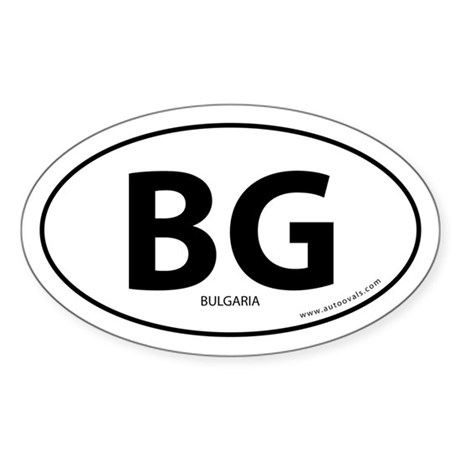 Bulgaria country bumper sticker -White (Oval)