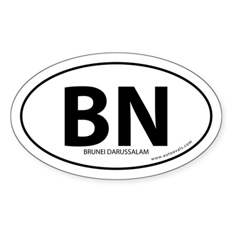 Brunei Darussalam bumper sticker -White (Oval)