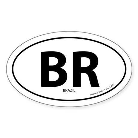 Brazil country bumper sticker -White (Oval)