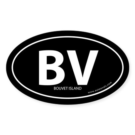 Bouvet Island country bumper sticker -Black (Oval)