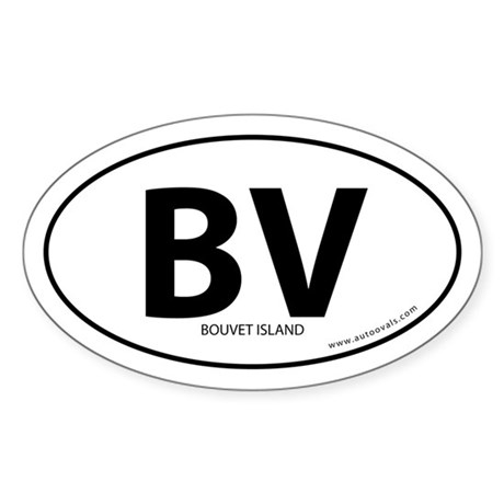 Bouvet Island country bumper sticker -White (Oval)