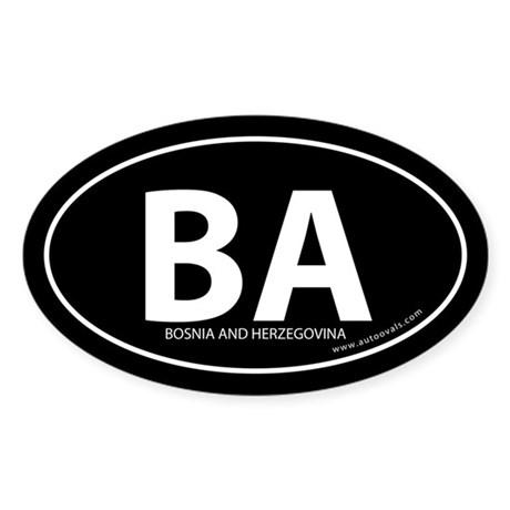 Bosnia and Herzegovina bumper sticker Black (Oval)