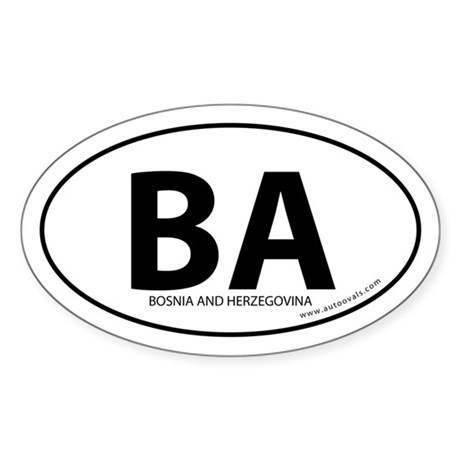 Bosnia and Herzegovina bumper sticker White (Oval)