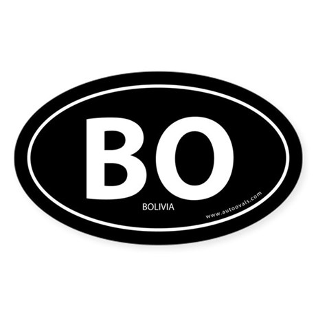 Bolivia country bumper sticker -Black (Oval)