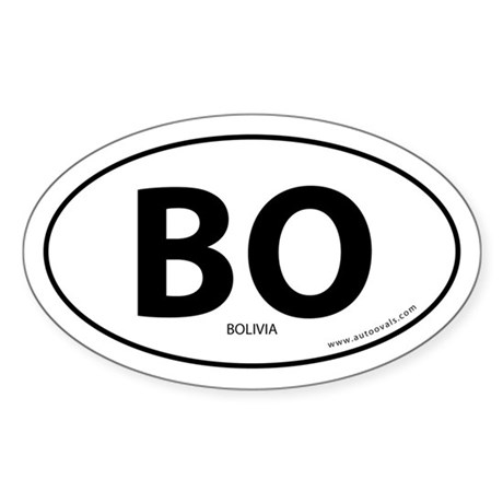 Bolivia country bumper sticker -White (Oval)