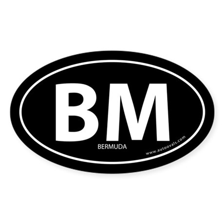 Bermuda country bumper sticker -Black (Oval)