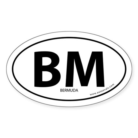 Bermuda country bumper sticker -White (Oval)