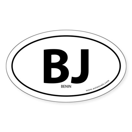 Benin country bumper sticker -White (Oval)