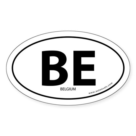Belgium country bumper sticker -White (Oval)