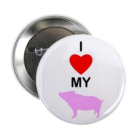 "I 'Heart' My Pig 2.25"" Button (10 pack)"