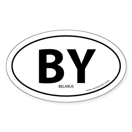 Belarus country bumper sticker -White (Oval)