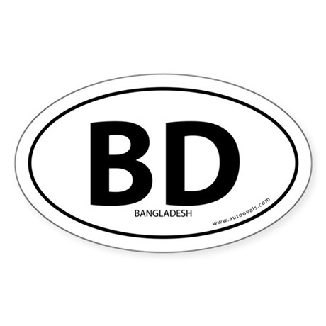 Bangladesh country bumper sticker -White (Oval)