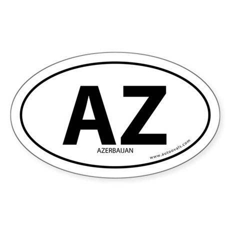 Azerbaijan country bumper sticker -White (Oval)