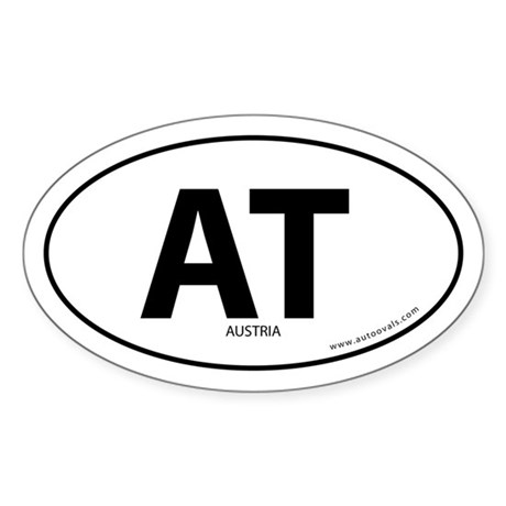 Austria country bumper sticker -White (Oval)